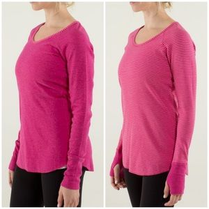Lululemon Open Your Heart Reversible Solid/Striped
